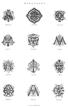 monograms - Globe Encyclopedia, circa 1881. via www.carlwiens.com