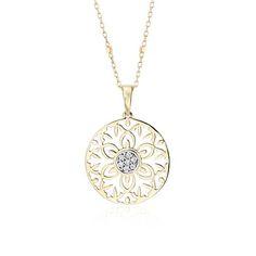 Blue Nile Laser Cut Diamond Circle Pendant in 14k Rose Gold (2/5 ct. tw.) x7Zgf