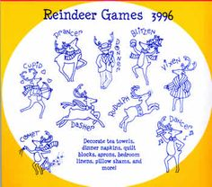 This Aunt Marthas Hot Iron Transfer contains Reindeer Games. Join the nine reindeer as they frolic about. The designs are great for tea towels, dinner napkins, quilt blocks, aprons. The designs are good for several stampings. Aunt Marthas hot iron transfer patterns have been needlecrafters favorites since the mid-1920s. Aunt Marthas first patterns were for quilt block but have evolved today into designs suitable for wearable art, decorative painting, surface and punch needle embroidery, ...