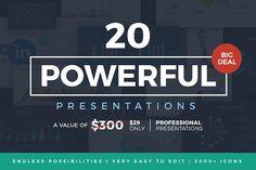 20 Powerful Presentations Bundle by Slidedizer on Creative Market Presentation Design Template, Good Presentation, Business Presentation, Powerpoint Presentation Templates, Keynote Template, Design Templates, Powerpoint Presentations, Art Template, Business Brochure