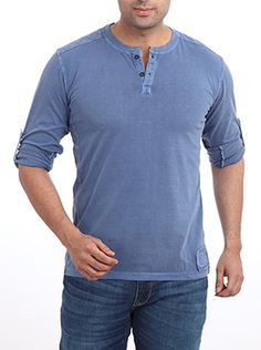 This cool and casual plain T-shirt from Parx creates your own style statement. This crew neck T-shirt with a front opening is fashioned using 100% cotton fabric with a smooth texture. It not only feels soft against the skin but assures sheer comfort all day. Flaunt a non-chalant look with this simple plain pull�off long sleeve T-shirt that ensures an absolute trendy look. It can be teamed with well-fitted denims or cargo pants and a pair of floaters for a smart college look.