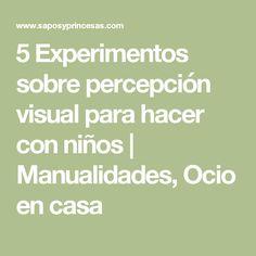 5 Experimentos sobre percepción visual para hacer con niños | Manualidades, Ocio en casa