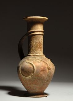 Very large ancient Cypriot Late Bronze Age pottery jug, circa 1650 BC