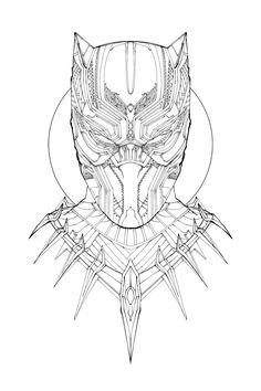 I have absolutely no time to be doing this but I'm going at it anyway. Did I ever mention how obsessed I am with the gorgeous design elements on T'Challa's ceremonial armor? Colors tomorrow....
