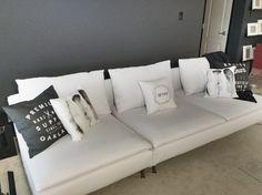Customer photo | Comfort Works custom made Soderhamn Sofa in Gaia White fabric. Custom Soderhamn sofa covers available here: http://comfort-works.com/en/soderhamn-136