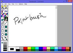 Windows 3.1 style (technically NT 3.5) Paintbrush running on Windows 8.1