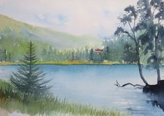 Aquarell Prebersee Lungau Österreich von mARTinaschwabSHOP auf Etsy Mint Green, Landscapes, Vintage, Nature, Painting, Etsy, Art, Watercolor Painting, Craft Gifts