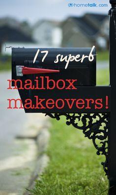 17 {Superb} Mailbox Makeovers! the pretty shelf bracket is a good idea.