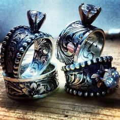 Engagement Rings Fit For a Cowgirl Western wedding rings Westerns