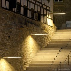 Exterior wall mounted staircase light