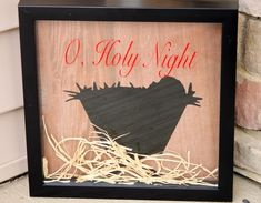 DIY Nativity Shadowboxes (a Silhouette project) - My Favorite Finds