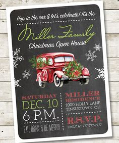 Lumberjack Christmas Open House Invitation Printable Christmas