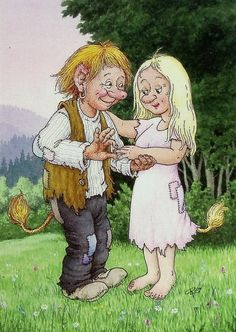 View album on Yandex. Fairy Sketch, Funny Troll, Elves And Fairies, Scandinavian Art, Book Images, Fantasy Creatures, Watercolor Illustration, Pretty Pictures, Gnomes