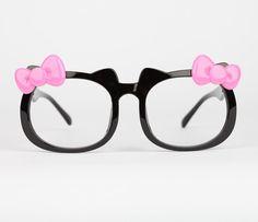 Hello Kitty Die-Cut Fashion Glasses: Pink