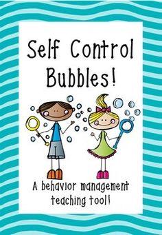 Self Control Bubbles - A behavior management teaching tool! Self Control Bubbles… School Counselor, Elementary Counseling, Elementary Schools, Classroom Behavior Management, Behaviour Management, Classroom Behaviour, Coping Skills, Social Skills, It Management