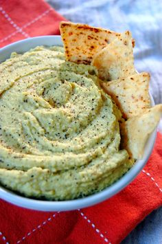 Sweet Pea Hummus - a low oil and veggie packed recipe #ad | Uproot from Oregon @uprootfromor