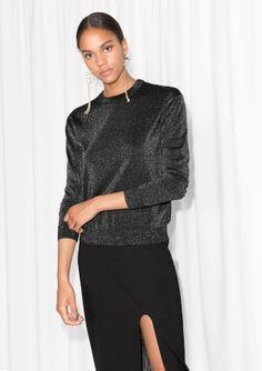 & Other Stories   Metallic Wool Sweater