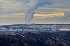 June 3, 2014. A view across the slag heaps of lignite surface mine Welzow of the Vattenfall AG in Welzow, Germany.