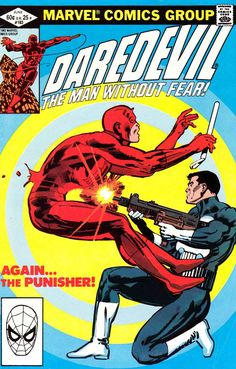 Daredevil v1 #183 punisher marvel comic book cover art by Frank Miller