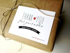 Artsy Thank You for Your Order Cards CUSTOM by totallydesign, $15.00