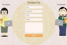 32 kiểu thiết kế trang liên hệ (Contact Form ) cho website