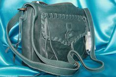 Lucky Brand Chimayo Style Purse Hunter Green Lightly Pebbled Leather 9x11 NEW!!! #LuckyBrand #MessengerCrossBody