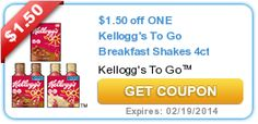 Print the new high-value $1.50/1 Kellogg's To Go Breakfast Shakes or Shake Mix coupon! - http://printgreatcoupons.com/2013/12/10/print-the-new-high-value-1-501-kelloggs-to-go-breakfast-shakes-or-shake-mix-coupon/