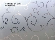 "Window Film SOLYX: SX-1546 Frosted Vine. 48"" wide"