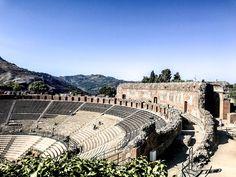 Teatro Greco in Taormina, Sicily.