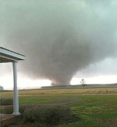 seeing the house in the foreground gives this picture an interesting feeling.usually see tornado pics from the side of a road but.this is someone's property, yikes! Tornado Pics, Tornado Pictures, Storm Pictures, Cool Pictures, Cool Photos, Wild Weather, Weather And Climate, Tornados, Natural Phenomena