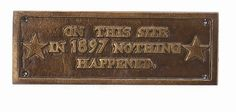 This Site 1867 Cast Iron Sign Retro Home Decor Bronze by HomeOffice. $14.99. What a wonderful cast iron sign. Would make a nice addition to your home, office, gameroom, dorm room, garages and more! Save on shipping by purchasing multiple signs at once.