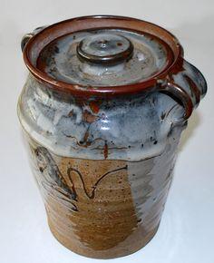 Dorthe Möller, lidded vase in stoneware, own studio Denmark.