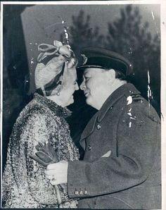 Photo of Tender Moment British PM Winston Churchill & Winnie. Photo is dated 10/31/44. | eBay