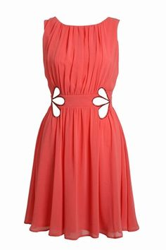 Coral party dress - What to wear to a wedding: Wedding guest dresses
