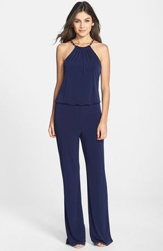 Laundry by Shelli Segal Chain Detail Jersey Jumpsuit available at #Nordstrom
