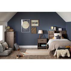 Boys Bedroom Paint, Boys Bedroom Decor, Boys Room Paint Ideas, Boys Bedroom Ideas 8 Year Old, Boys Bedroom Colors, Boys Room Design, Boy Bedroom Designs, Navy Bedroom Walls, Little Boy Bedroom Ideas