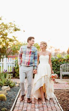 Tiered Skirt High-low Wedding Dress at $114.87 at June Bridals! We offer off the shoulder wedding dresses, long sleeve wedding dresses, lace wedding dresses and many other affordable wedding dresses, shop before the sale ends! #junebridals