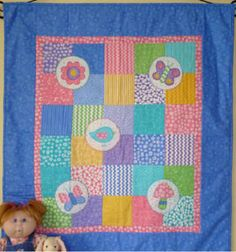 Bubbles Cot Quilt PDF Pattern Patchwork Quilting by MakeItYoursOz