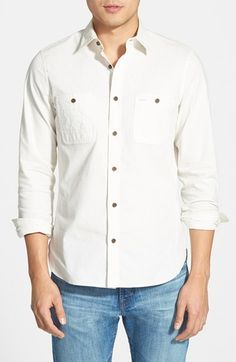 Free shipping and returns on Wallin & Bros. 'Workwear' Trim Fit Chambray Sport Shirt at Nordstrom.com. Mitered, two-button cuffs finish a casual sport shirt cut from breezy chambray and fronted with a pair of button-closure chest pockets.