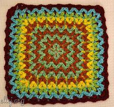 Bargello Crochet Afghan Block | AllFreeCrochetAfghanPatterns.com