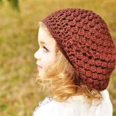 Children Clothing, Children Spring Accessories, Crochet Beret - Slouchy Beanie Hat - trendy and fun, choose your favorite color