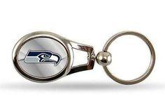Seattle Seahawks Oval Key Chain NFL Keyring