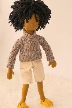 Boy Rag Doll with Wardrobe  Phoebe&Egg