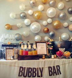 Bridal shower cocktail idea - Bubbly Bar {Courtesy of Catch My Party}