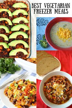 The very best vegetarian meals that freeze well. Perfect for the whole family, these healthy and delicious meal ideas are all awesome.