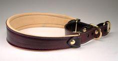 Custom Leather Martingale Collars l Leather Martingale Dog Collar Padded