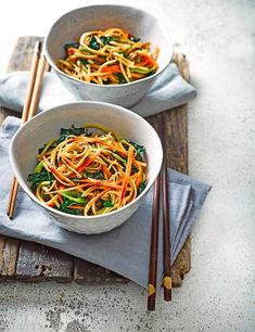 Mie goreng Indonesian noodles Make our super simple Mie goreng Indonesian noodles. This punchy vegetarian recipe is quick and easy to make, and it's low in calories, too