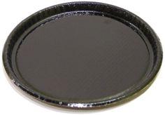 "Solut 63655 Black Elegance Corrugated Paperboard Retail Food Serving Platter, 12"" Diameter (Case Of 50), 2015 Amazon Top Rated Cookware #BISS"