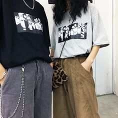 T-shirt anime surdimensionné - Fashion moda Hipster Outfits, Grunge Outfits, Edgy Outfits, Grunge Fashion, Outfits For Teens, Summer Outfits, Fashion Outfits, K Fashion, Tumblr Fashion