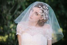 Beautiful makeup and veil